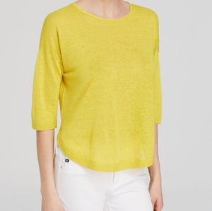 Theory Beylor C Sag Harbor Linen High Low Sweater